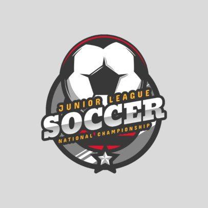 Sports Logo Maker for a Junior Soccer League 2703a