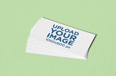 Stationery Mockup Featuring a Small Pile of Business Cards over a Minimalistic Surface 1031-el