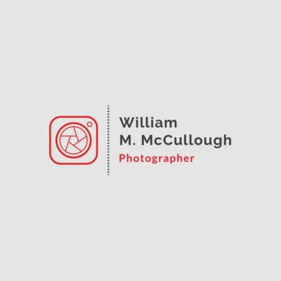 Photography Logo Maker Featuring a Minimalist Clipart 1498f-103-el