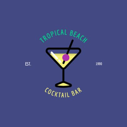Online Logo Maker for a Tropical-Themed Bar 1758g 221-el