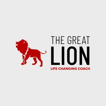 Business Coaching Logo Maker Featuring a Lion Graphic 1144n 2659