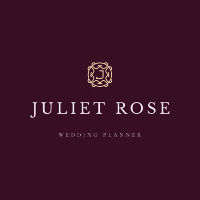 Wedding Planner Logo Maker with an Elegant Style 1217h 156-el