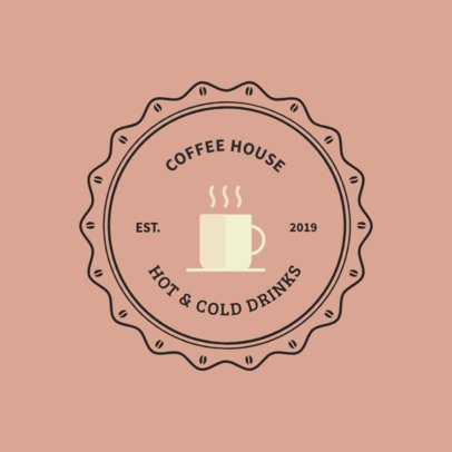 Coffee House Logo Maker with a Vintage Style 950j-144-el