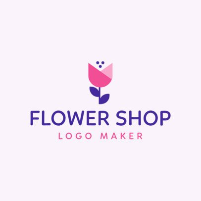 Logo Generator for a Florist with an Abstract Flower Graphic 1166h 2697