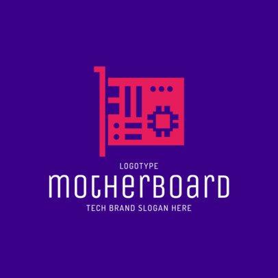 Online Logo Template for Tech Brands 2174l 151-el