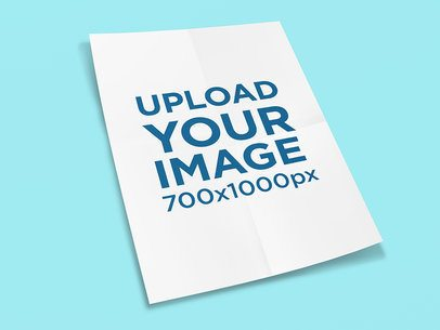 Mockup of an Unfolded Poster on a Solid Color Surface 1247-el