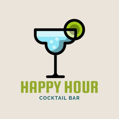 Logo Maker for a Cocktail Bar with a Martini Icon 1815g-208-el