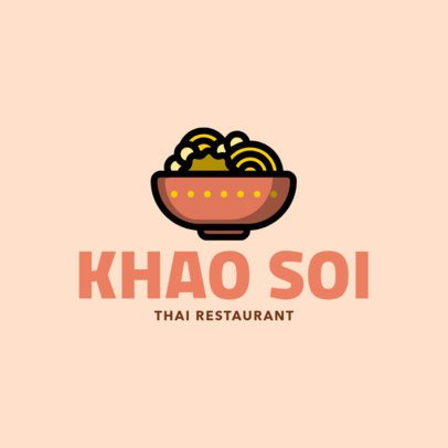Modern Logo Template for a Thai Restaurant 1844f-208-el