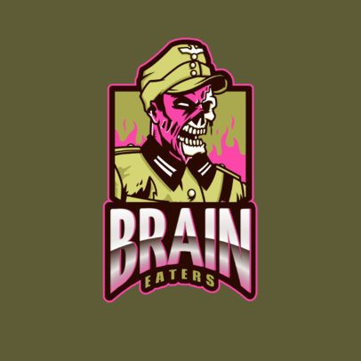 Gaming Logo Generator with a Spooky Zombie Inspired by Call of Duty 2734d