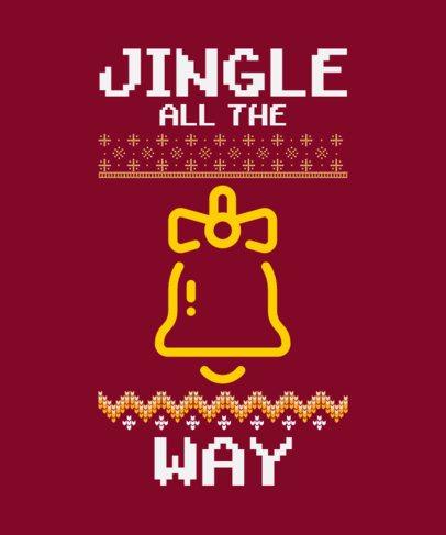 T-Shirt Design Maker with a Christmas Slogan 52e 228-el