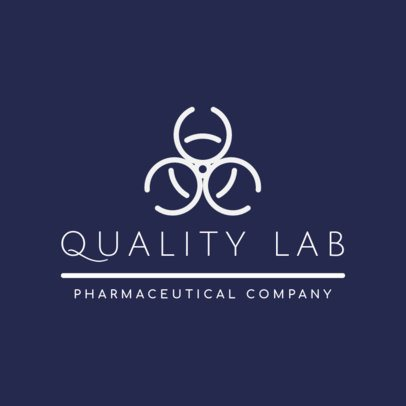 Pharmaceutical Logo Maker with a Biohazard Symbol 1856h-201-el