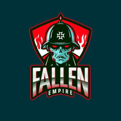 Gaming Logo Creator with a Zombie Soldier Inspired by COD 2734g