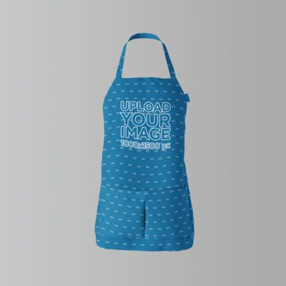 Sublimated Apron Mockup in a Studio 1390-el