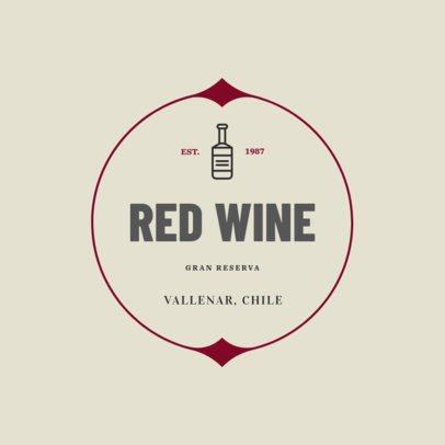Logo Design Template for a Wine Company 1249g-256-el