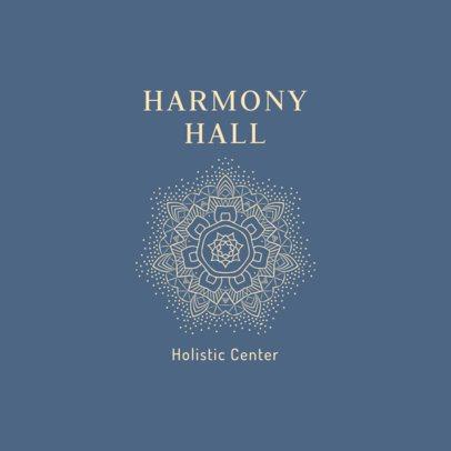 Holistic Health Center Logo Maker with a Mandala Clipart 2578j-233-el