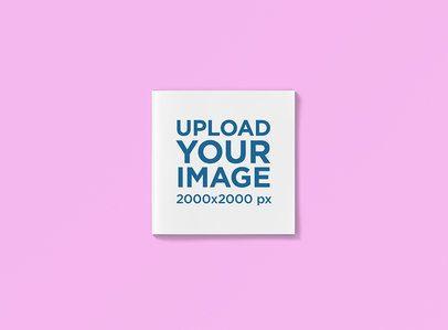 Square Magazine Mockup with a Plain Backdrop 1181-el