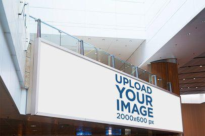 Mockup of a Billboard Inside a Mall 1190-el