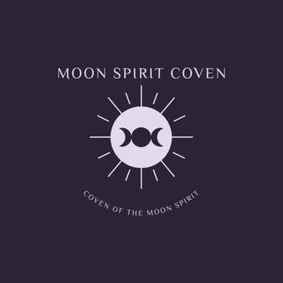 Logo Maker for a Witchcraft Coven 2724g