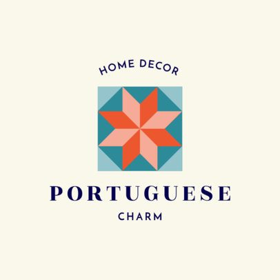 Home Decoration Logo Maker with a Portuguese Geometric Pattern Icon 1325k-231-el