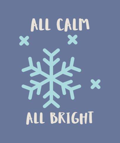 Winter-Themed T-Shirt Design Maker 49d 258-el