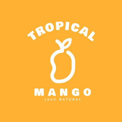 Tropical Juice Logo Generator Featuring a Mango Silhouette 253d-el