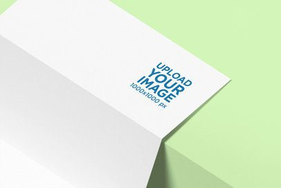 Logo Mockup of a Letterhead Leaning on a Step 1690-el