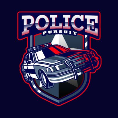 Action Gaming Logo Maker with a Police Car Illustration 2770j