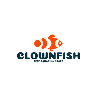 Reef Aquarium Store Featuring a Clownfish Icon 1147h-2760