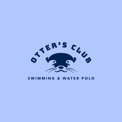 Swimming Club Logo Maker with an Otter Icon 1579f-2760