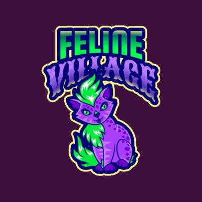 Gaming Logo Maker with a Fantasy Lynx Illustration 2766x