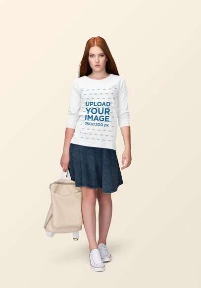 Crewneck Sweatshirt Mockup Featuring a Red-Haired Woman at a Studio 1886-el1