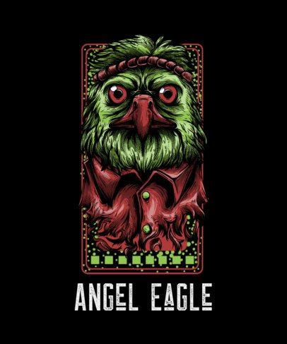 T-Shirt Design Maker with a Street-Art Style Eagle Cartoon 44g-el