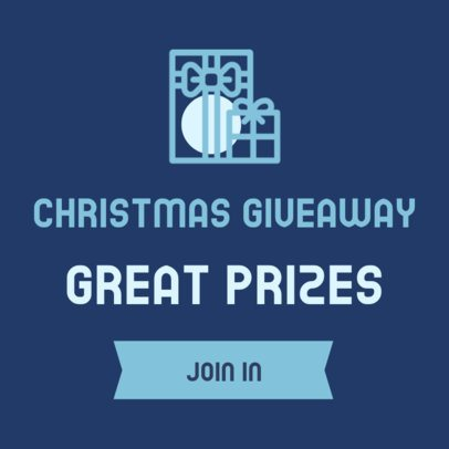 Banner Design Template for a Christmas Giveaway 307c-el
