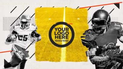 Football-Themed Intro Maker for a Logo Reveal with a Customizable Slogan 2034