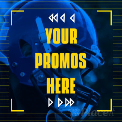 Instagram Video Maker for a Football Promo 2043