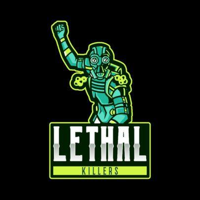 Logo Maker Based on Apex Legends Featuring a Lethal Warrior 2791l