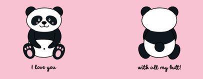 Mug Design Template Featuring a Panda Illustration 2074m