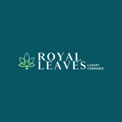 Elegant Logo Maker for a Cannabis Products Brand 386c-396-el1