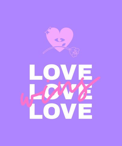 Cool Typography T-Shirt Design Generator with a Love Wins Quote 2112c