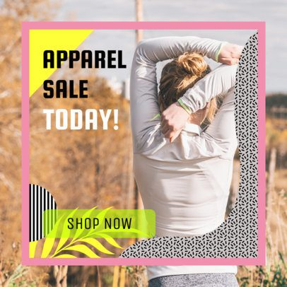Ad Banner Template with a Tropical-Style Frame for an Activewear Sale 269l 2086