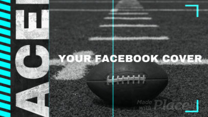 Facebook Cover Video Maker with an American Football Theme 2046