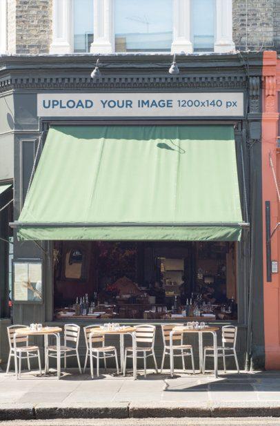 Storefront Mockup on an Old Building 578-el1