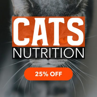 Online Banner Ad Maker for a Cat's Food Sale 2124c