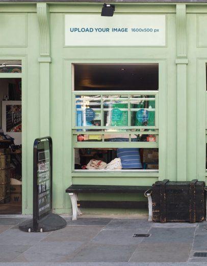 Storefront Mockup of a Classic Coffee Shop 581-el1