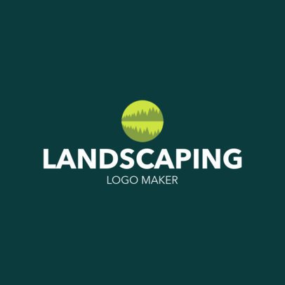 Logo Creator for a Landscaping Company Featuring a Forest Clipart 1435m-2797