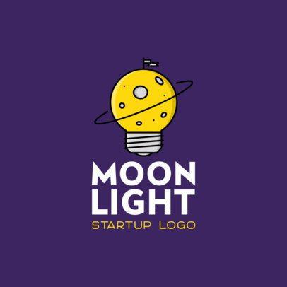 Startup Logo Generator with a Moon Graphic 486c-el1