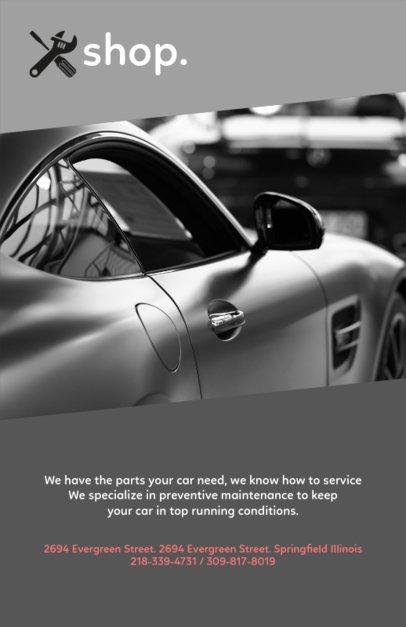 Elegant Flyer Design Template for a Car Workshop 279e