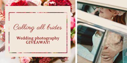 Wedding Giveaway Twitter Post Maker 669c