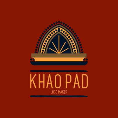 Online Logo Generator for Thai Restaurants 1838e 2834