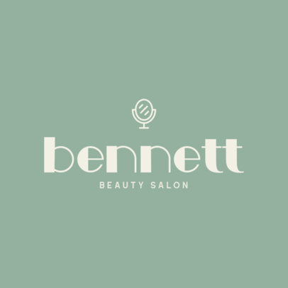 Cool Logo Template for a Beauty Salon with a Mirror Icon 421b-el1